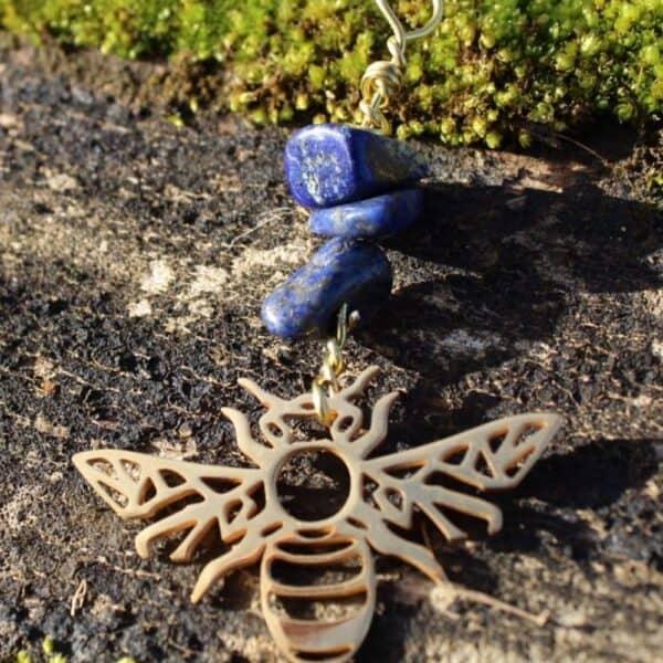 Collier Lapis-Lazuli-abeille
