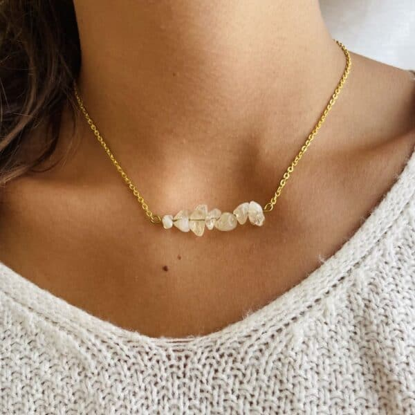 Collier chips horizontal or citrine