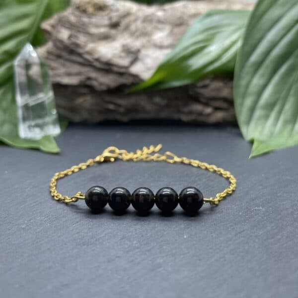 pentaperle obsidienne or