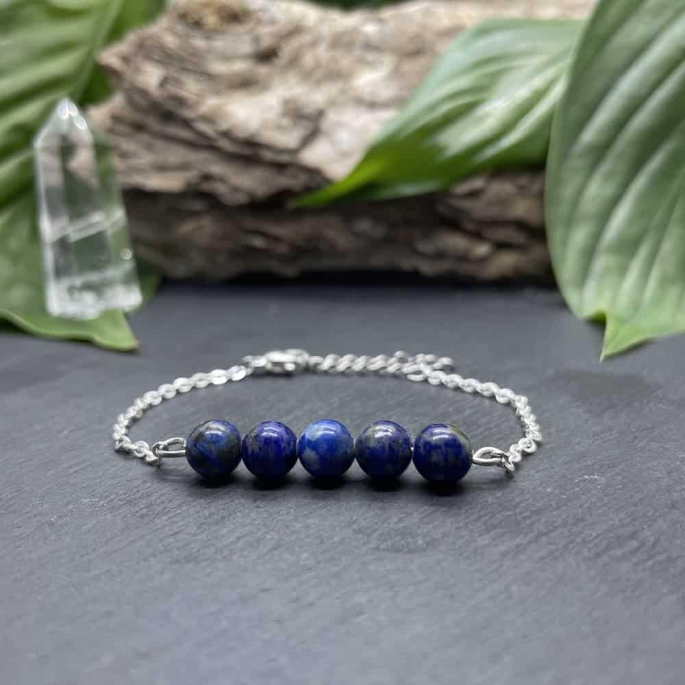 pentaperle lapis-lazuli argent