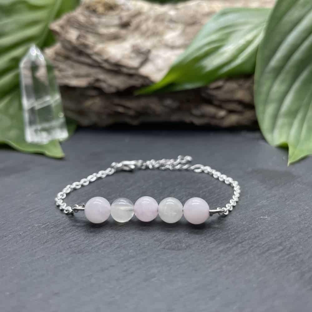 pentaperle quartz rose et pierre de lune