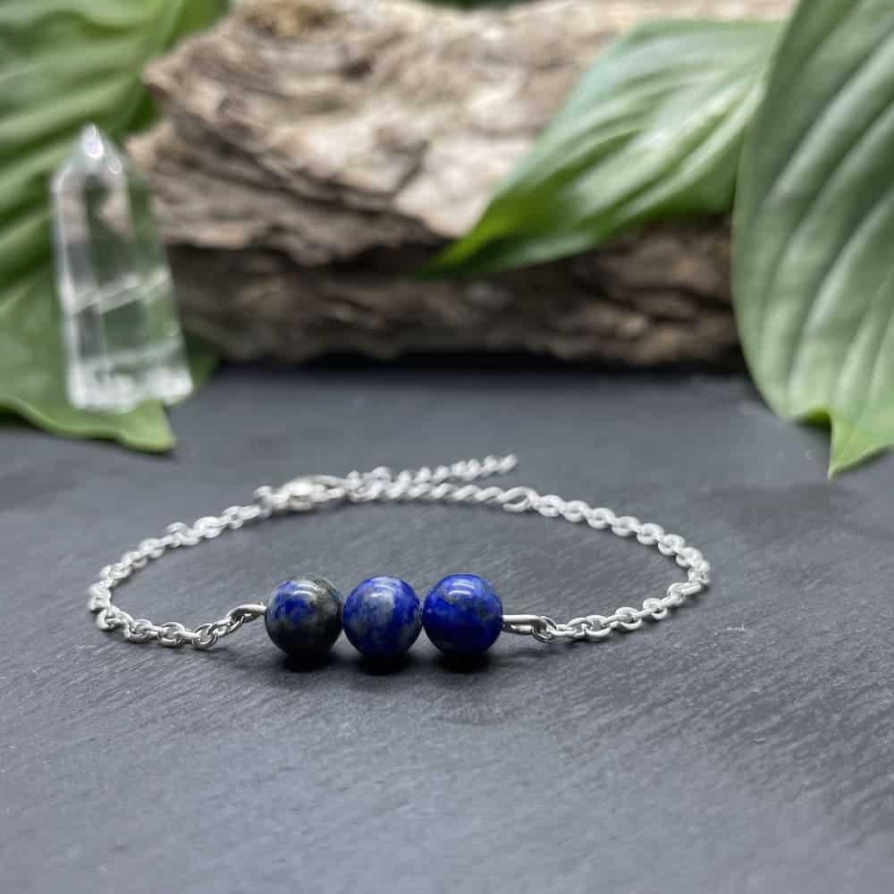 triperle lapis-lazuli argent
