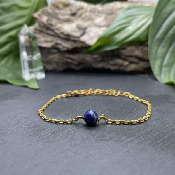 Uniperle lapis-lazuli or