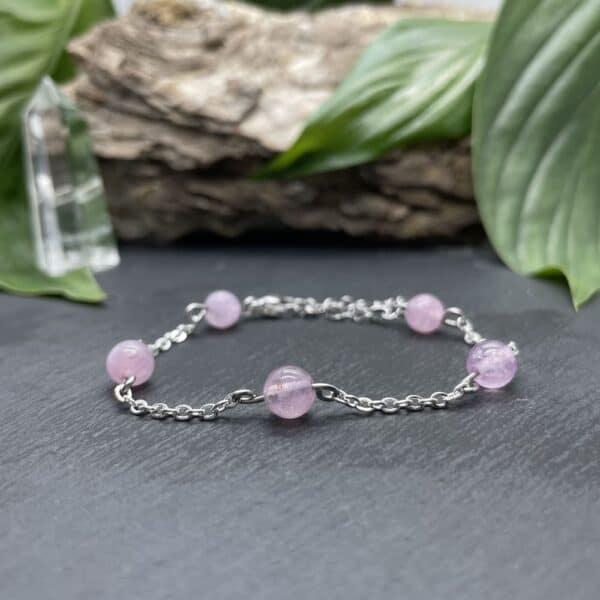 anthéa quartz rose argent