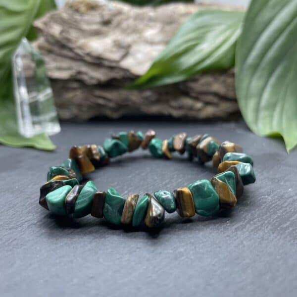 bracelet oeil de tigre malachite