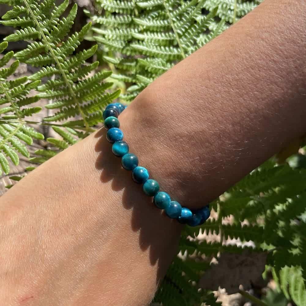 poignet oeil de tigre bleu bracelet