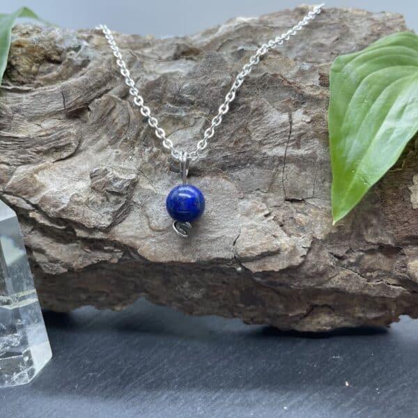 collier uniperle lapis-lazuli