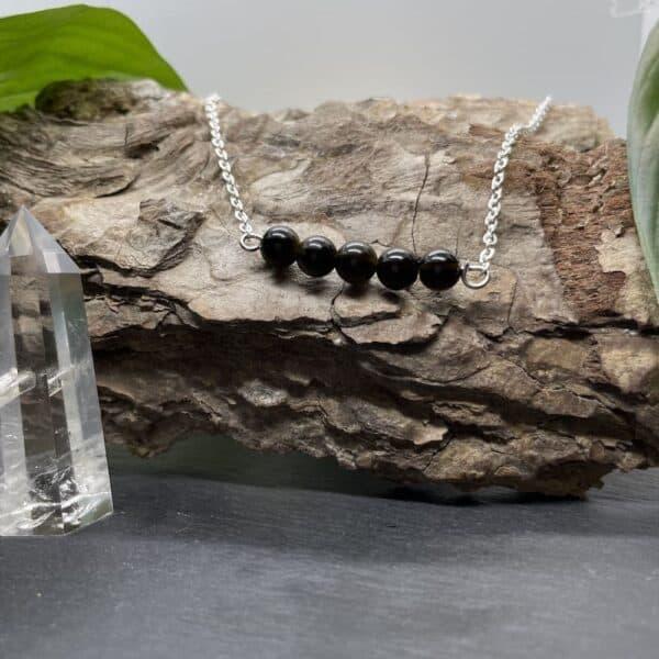 pentaperle horizontal obsidienne