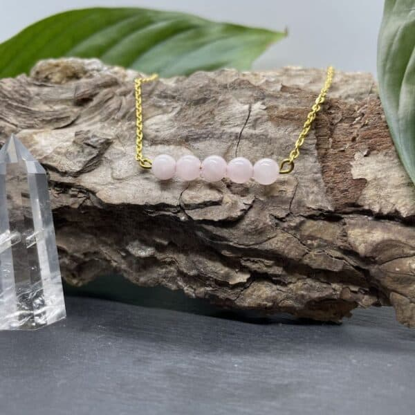 pentaperle horizontal quartz rose