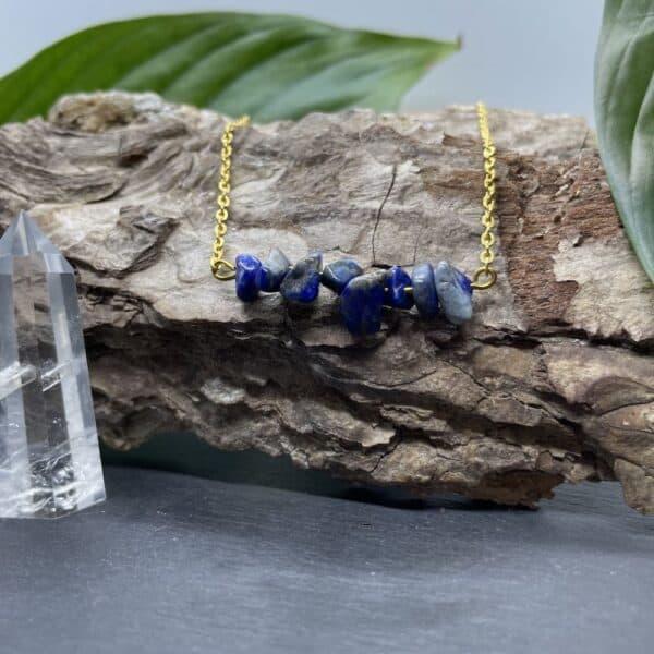 collier lapis-lazuli or