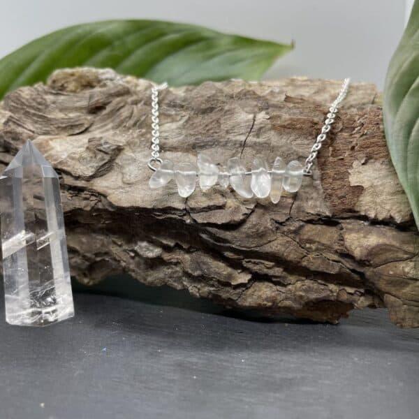 colliers quartz argent