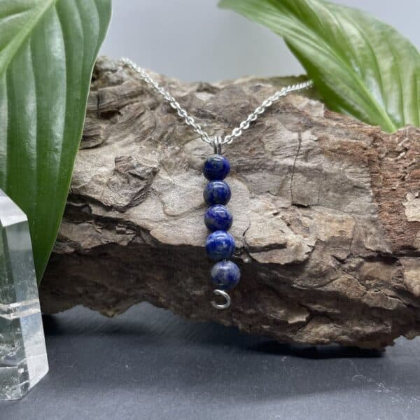 collier lapis-lazuli vertical