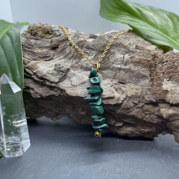 collier malachite vertical