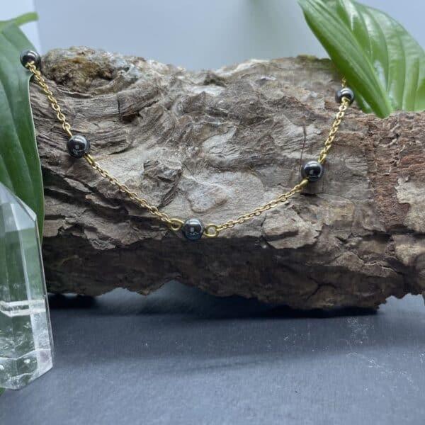 collier hématite anthéa