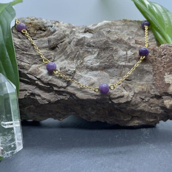 collier lépidolite anthéa