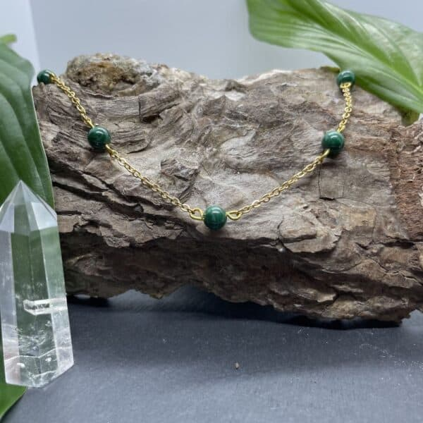 collier malachite anthéa