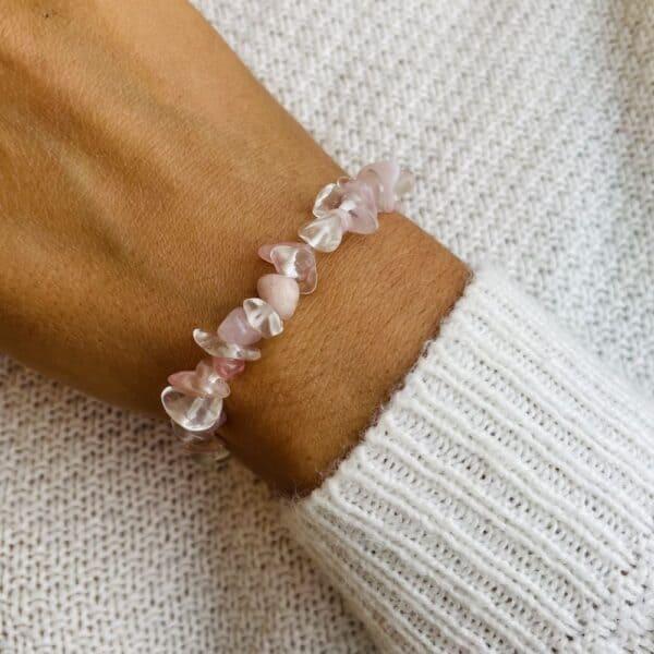 bracelet elastic'chips porté amour