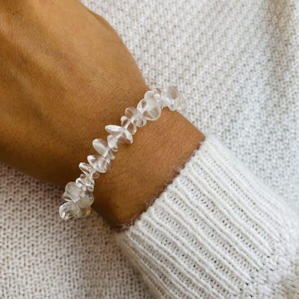 bracelet elastic'chips porté quartz