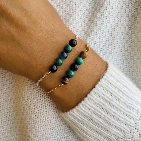 bracelet pentaperle porté double transformation
