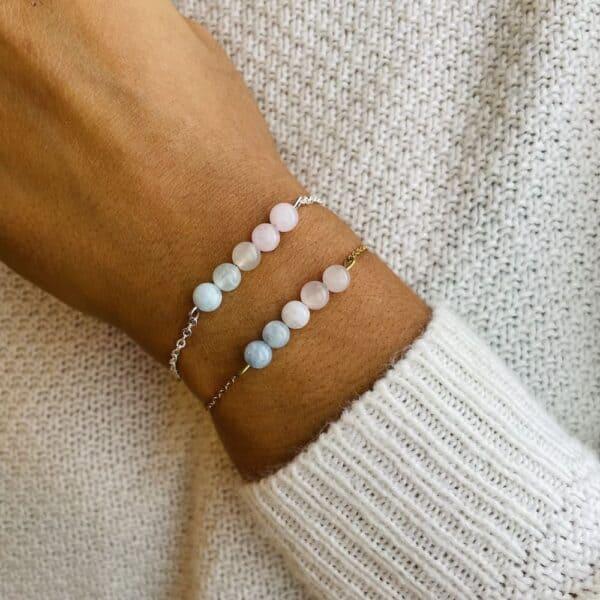 bracelet pentaperle porté double bien-être