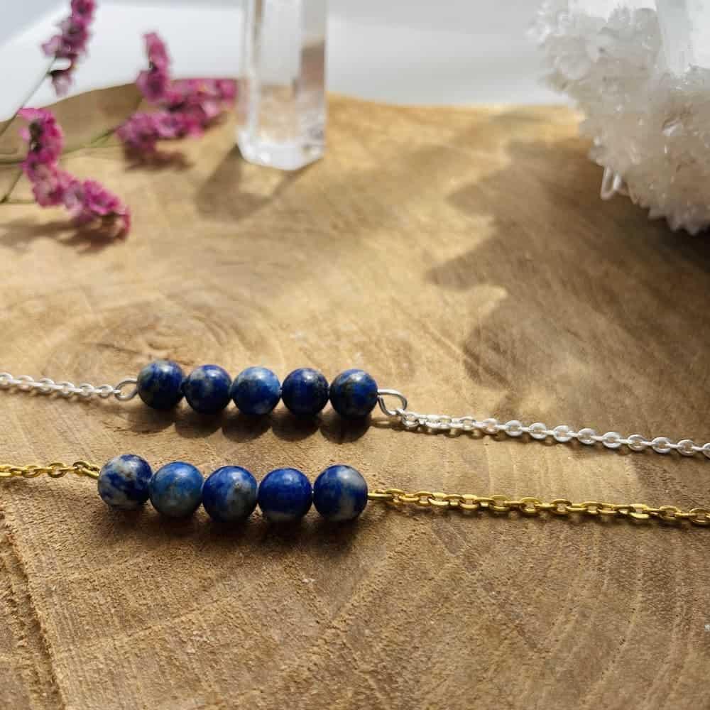 bracelet pentaperle zoom lapis lazuli