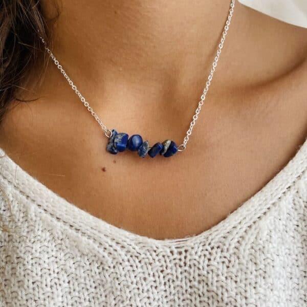 ollier chips horizontal argent lapis lazuli