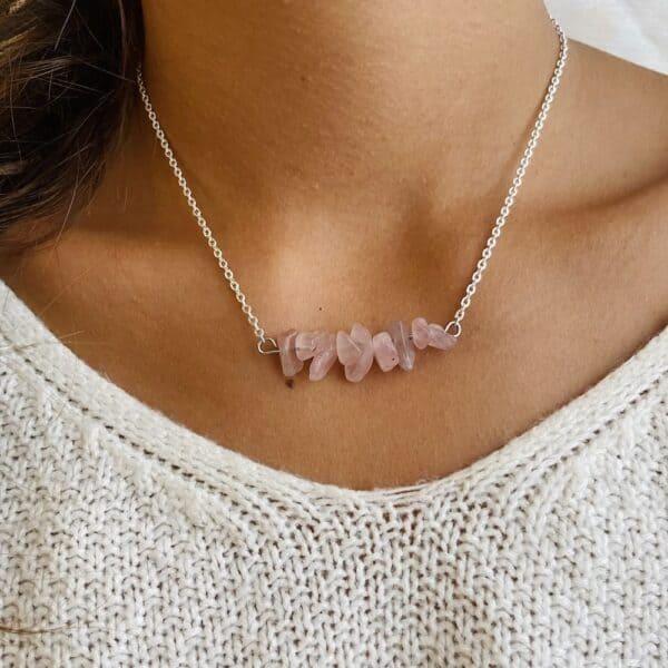 ollier chips horizontal argent quartz rose