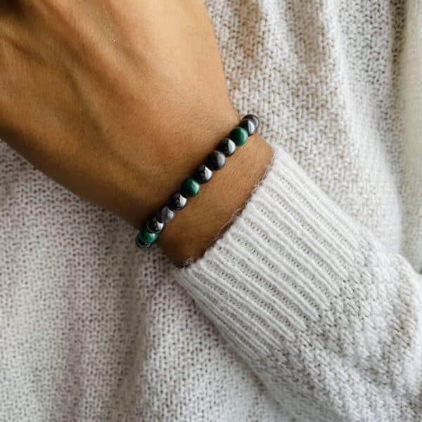 Bracelet Elastic'perles poignet alignement