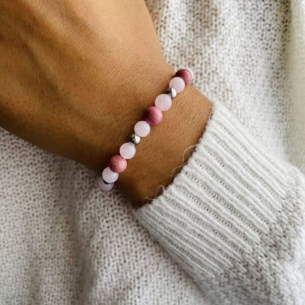 Bracelet Elastic'perles poignet amour