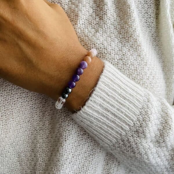 Bracelet Elastic'perles poignet feminin sacre