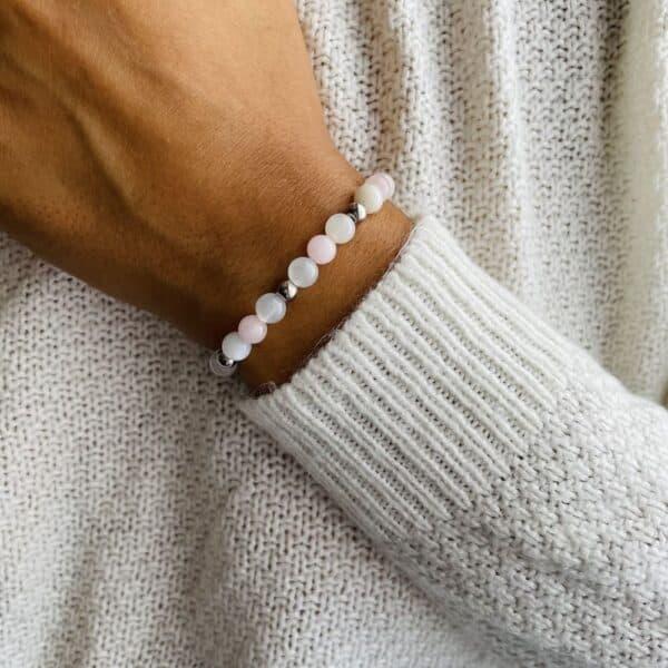 Bracelet Elastic'perles poignet paix