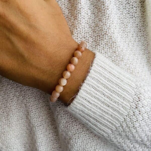 Bracelet Elastic'perles poignet pierre du soleil