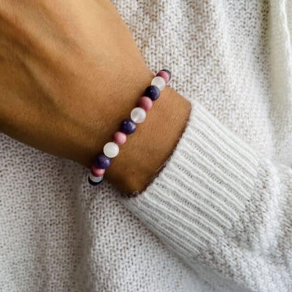 Bracelet Elastic'perles poignet positivite