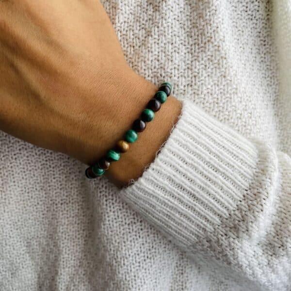 Bracelet Elastic'perles poignet transformation