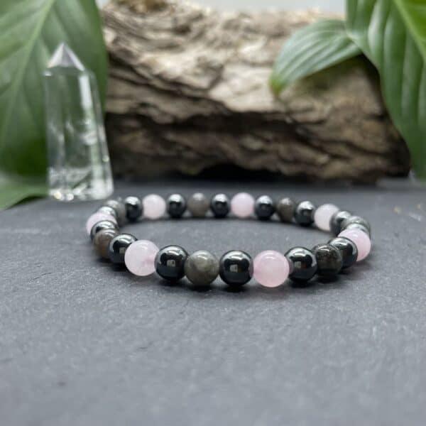 Breacelet Elastic'perles fond noir acceptation