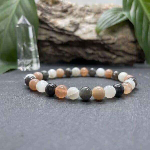 Breacelet Elastic'perles fond noir creativite