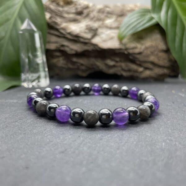 Breacelet Elastic'perles fond noir eveil