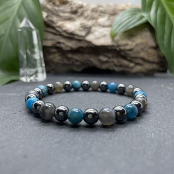 Breacelet Elastic'perles fond noir expression