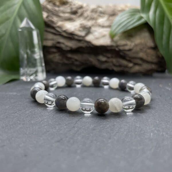 Breacelet Elastic'perles fond noir intuition