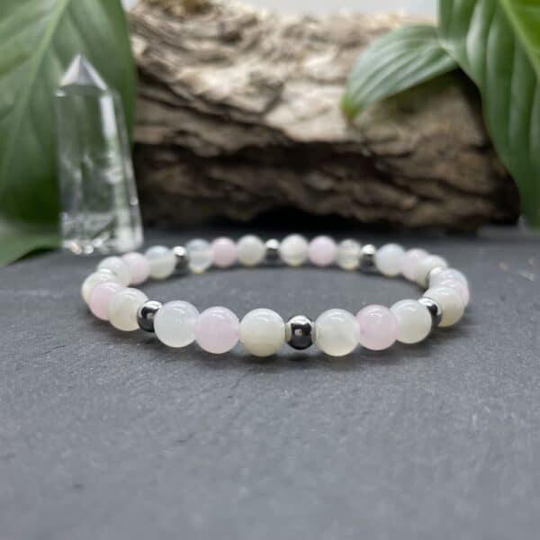 Breacelet Elastic'perles fond noir paix