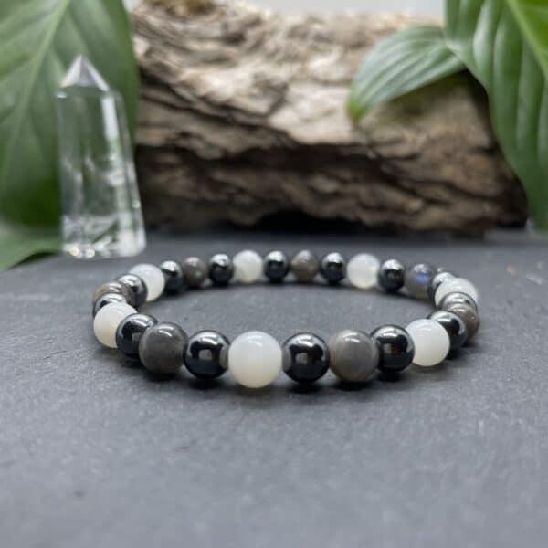 Breacelet Elastic'perles fond noir receptivite