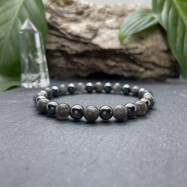 Breacelet Elastic'perles fond noir securite