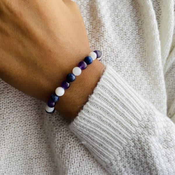 Breacelet Elastic'perles poignet chakra 3ieme oeil