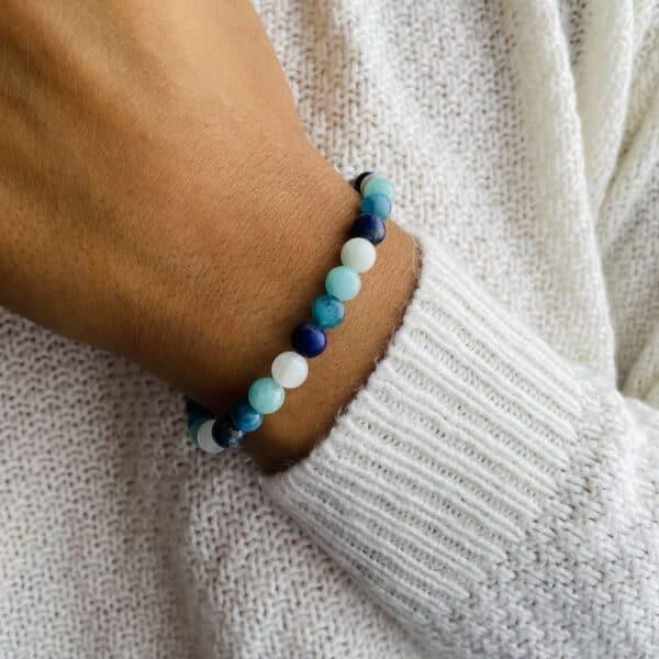 Breacelet Elastic'perles poignet chakra gorge