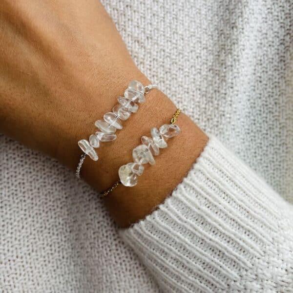 bracelet magic porté double quartz