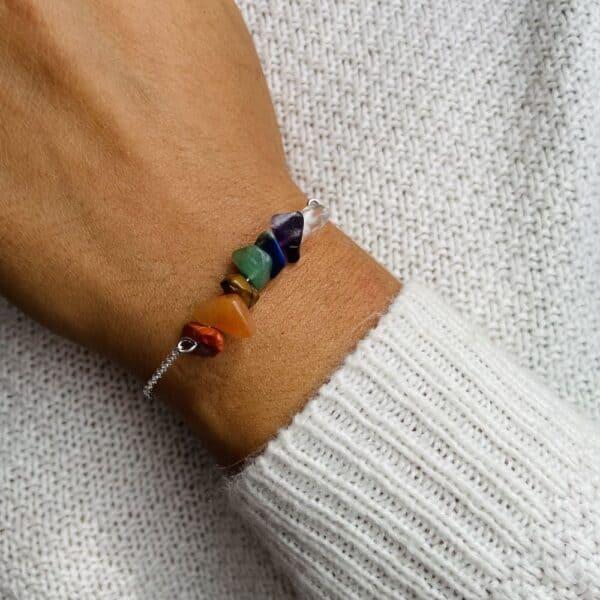 bracelet magic porté double 7 chakras