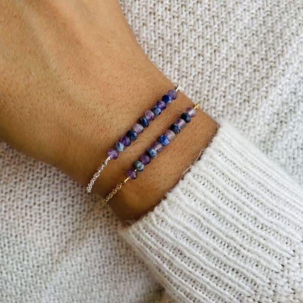 améthyste lapis-lazuli poignet