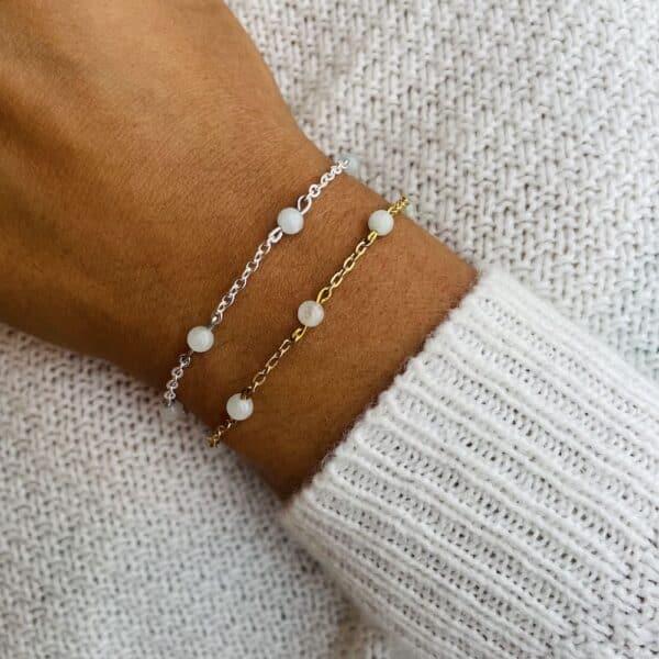 bracelet anthéa aigue-marine 4mm