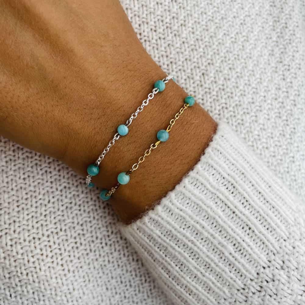 bracelet anthéa amazonite 4mm