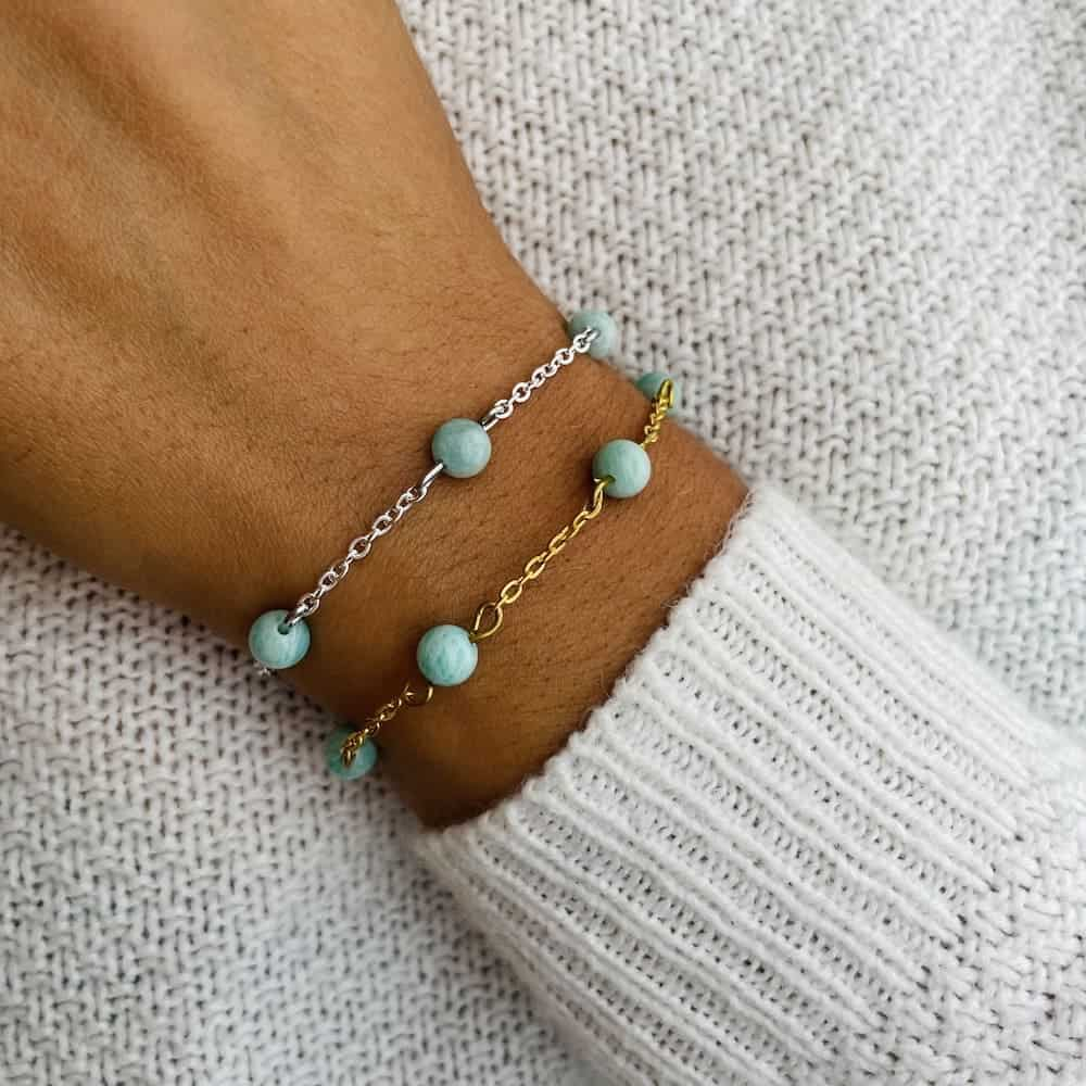 bracelet anthéa amazonite 6mm